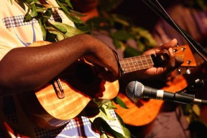 The ukulele is essential to Hawaiian music.